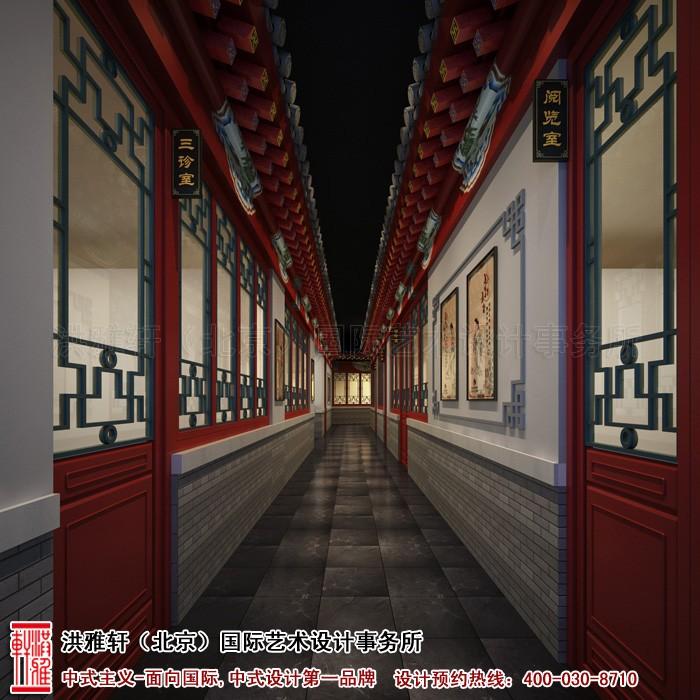 会所走廊中式装修图片