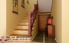 别墅中式装修上楼梯形状影响风水需慎重