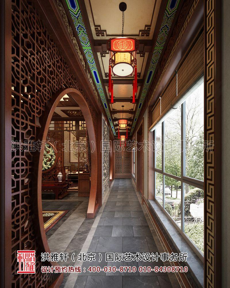 中式门厅过道装修设计效果图片