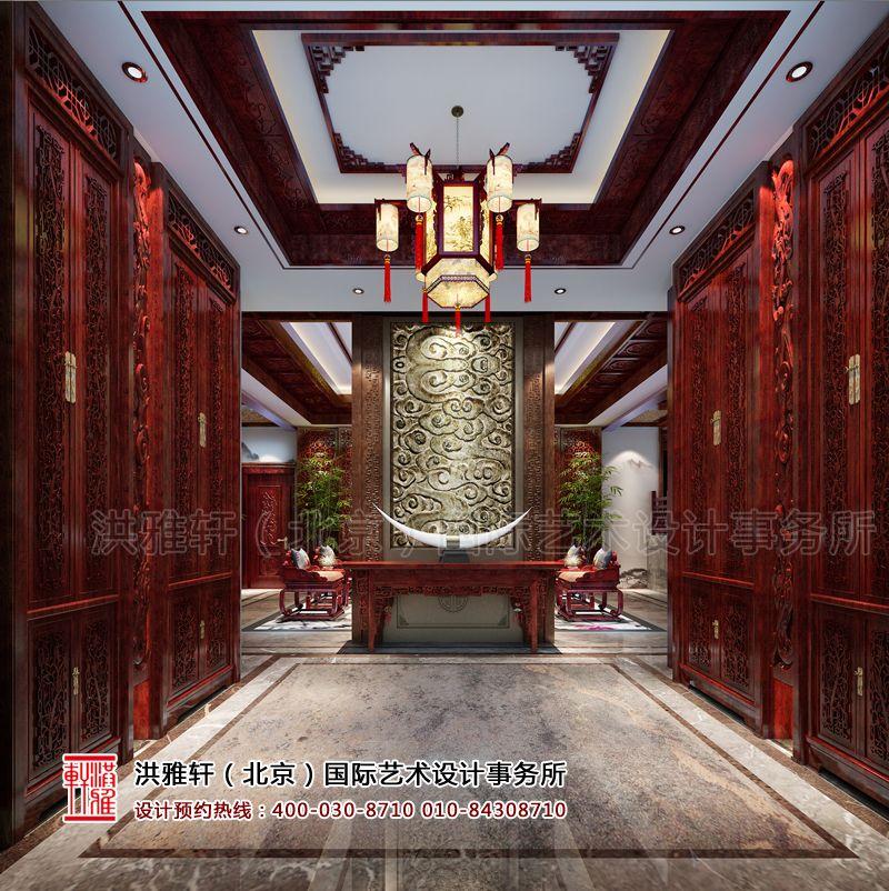 门厅古典中式装修设计效果图片