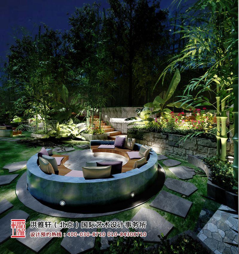 后花园古典中式装修设计效果图片