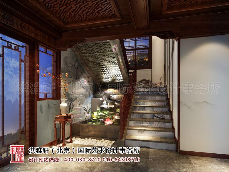 楼梯间古典中式装修设计效果图片