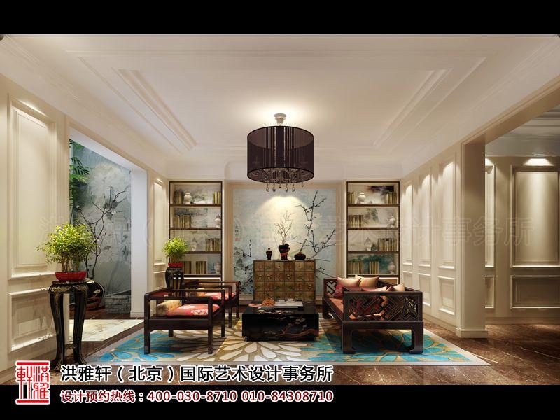 棕榈滩别墅样板间休闲室新中式设计效果图片