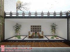 下沉式庭院设计效果图