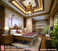 中式风格卧室背景墙设计