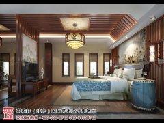 现代卧室床头背景墙装修效果图