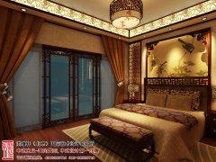 中式卧室床头背景墙欣赏