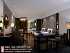 现代中式酒店装修效果图