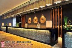 苏州中式酒店前台设计效果图