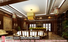 中式酒店餐厅装修效果图大全2012图片