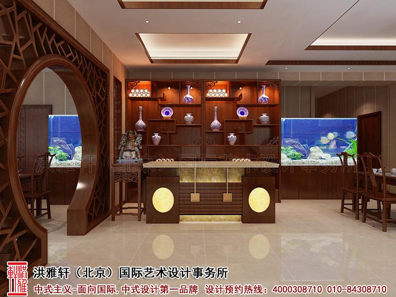 中式酒店前台设计图片