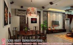 新中式装修电视墙装修效果图