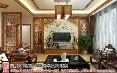 中式客厅电视墙装修设计图片