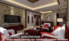 新中式风格客厅电视墙设计图