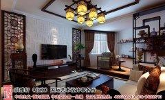 客厅中式风格电视墙装修效果图