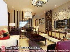 中式风格餐厅客厅电视墙效果图
