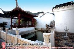 中式别墅庭院布置图及效果图