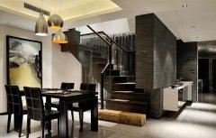 现代风格餐厅中式设计效果图